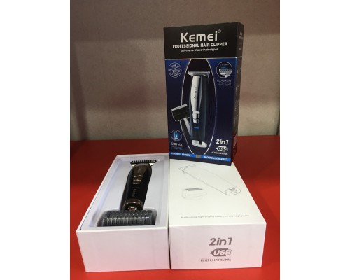 Машинка для стрижки волос 2 в 1 Кemei KM-2057  TV000334