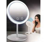 Зеркало на подставке для мейк-апа с вентилятором  ТV000111  24шт