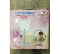 Зеркало для макияжа  на палочке LED с вентилятором ТV000202  48шт